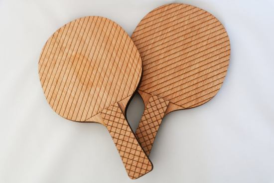 Table Tennis Rackets Laser Cut Template Free Vector