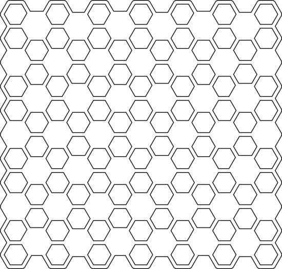 Honey Comb Vector Seamless Pattern Free Vector
