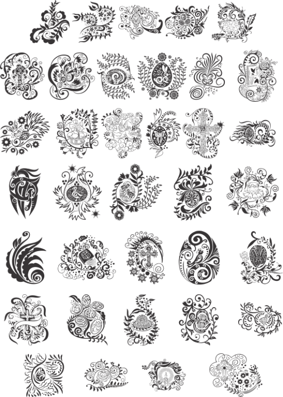 Easter Patterns Free Vector
