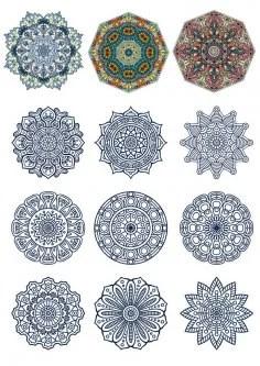 Decorative Ornamental Design Vector Set Free Vector