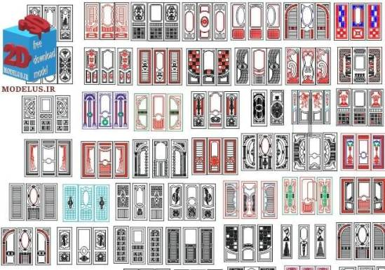 doors mix  dxf and cdr