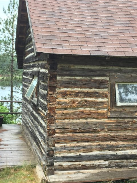 Original log cabin at Camp Bovey