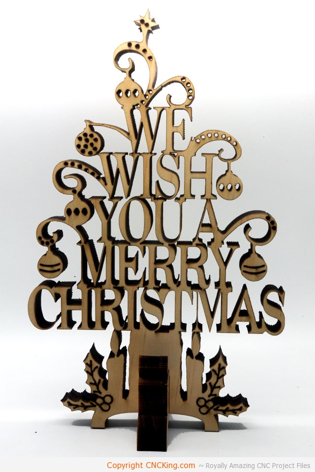 Merry Christmas Text Tree: New CNC Laser Cutting Project! - CNCKing.com
