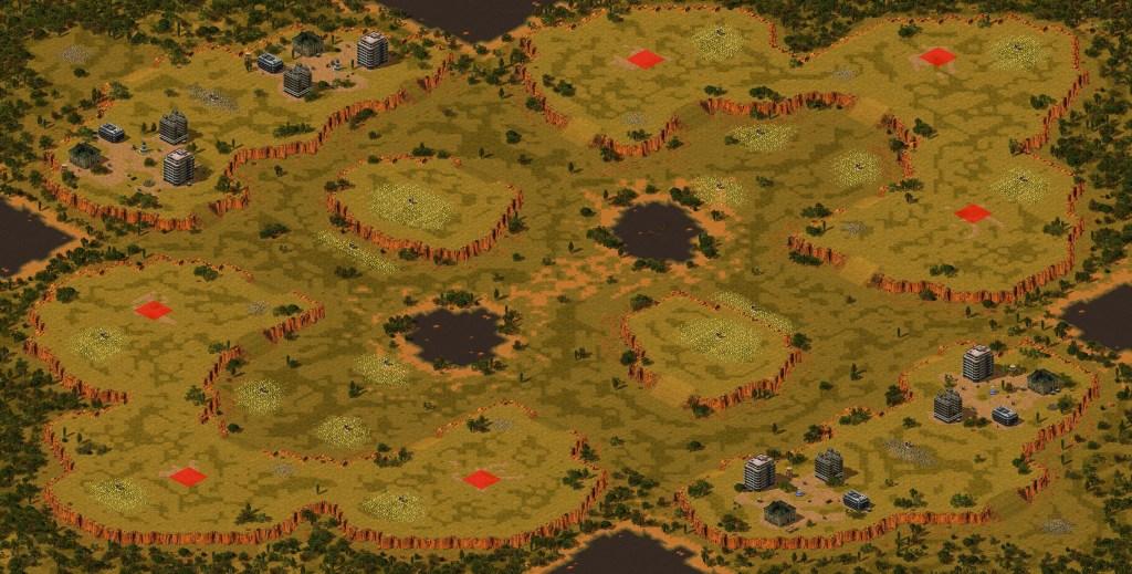 Woodland plains Red Alert 2 map