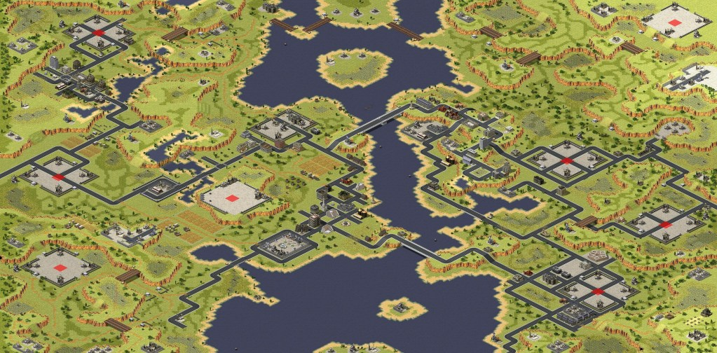 Red Alert 2 map Outpost Valley