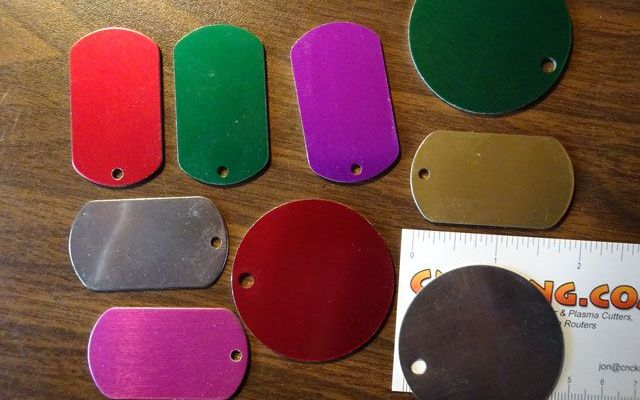 anodized-dog-tags-2 Laser Engraving Anodized Aluminium Dog Tags