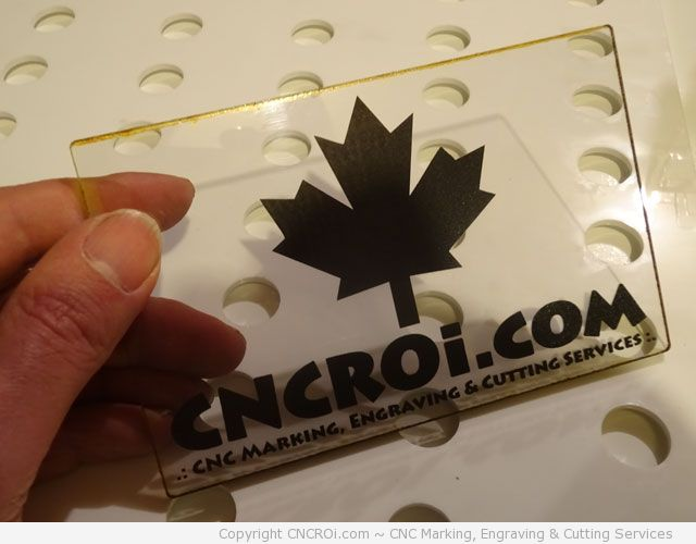 Polycarbonate: Fiber Laser Marking and CO2 Cutting