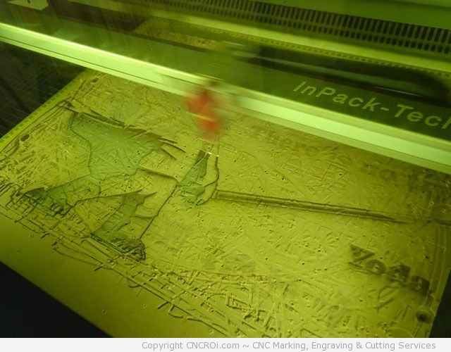 cnc-laser-yoda-1 CNC Laser Yoda on Sacrificial CNC Router Board