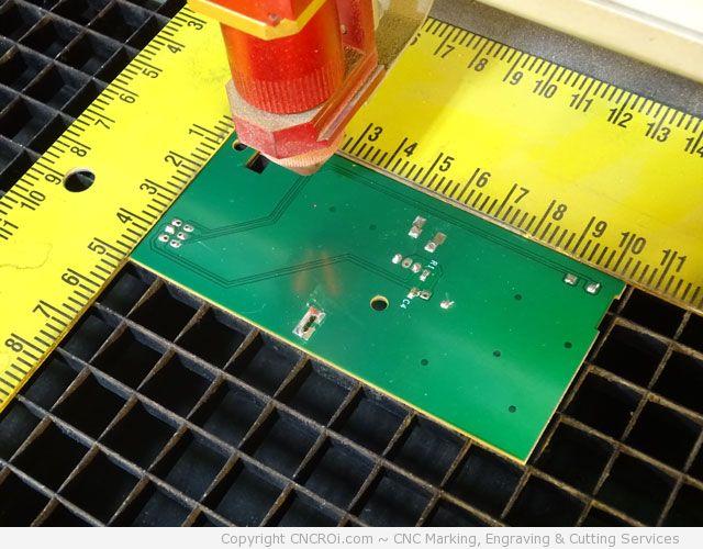 pcb-laser-4 CNC Fiber Marking & Engraving a PCB Board
