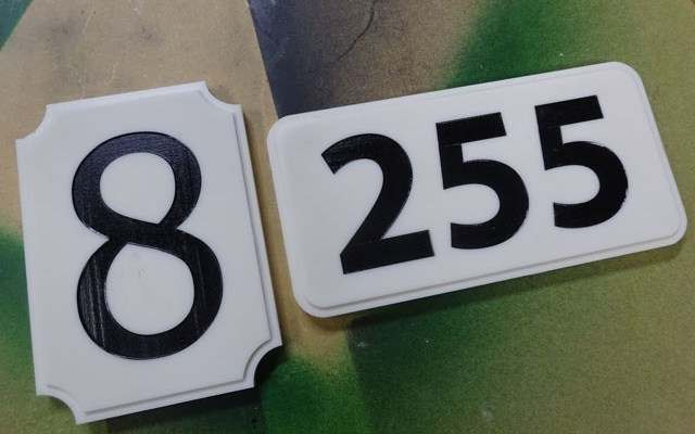 house-number-custom-xx CNC Routing & Lasering Custom Corian House Number Signs