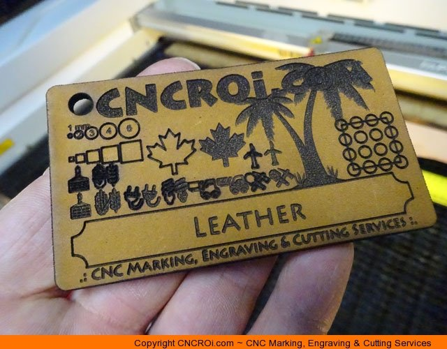 CNC Laser Engraving & Cutting Custom Leather Patches