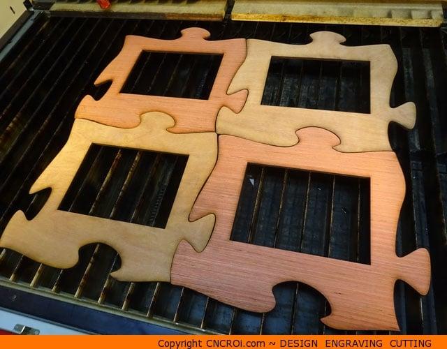 CNC Laser Cutting Custom Interlocking Puzzle Pieces