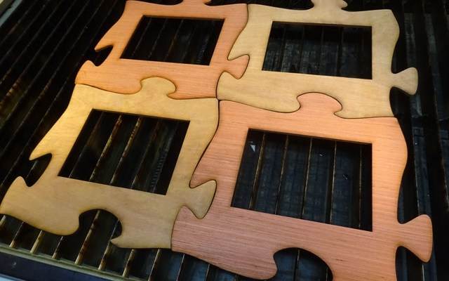 laser-cut-puzzle-x1 CNC Laser Cutting Custom Interlocking Puzzle Pieces