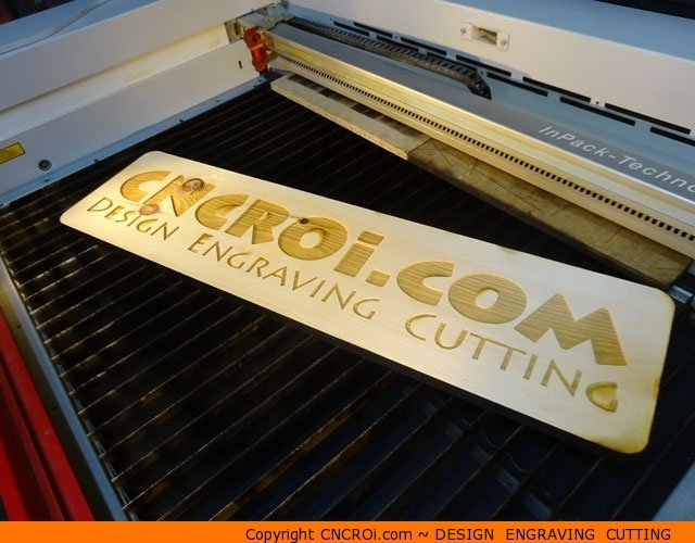custom-pine-sign-1 Custom CNC Laser Engraved And Cut 3/4 inch (18 mm) Pine Sign
