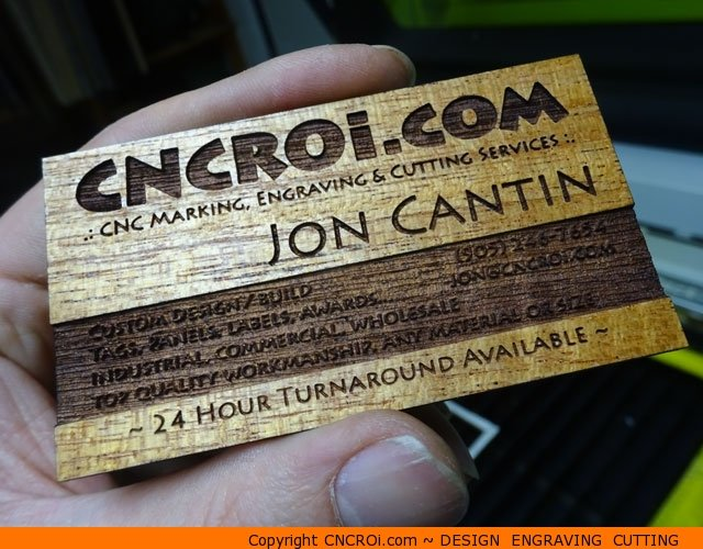 Wood veneer business cards 20 pack custom veneer business x wood veneer business cards 20 pack reheart Images
