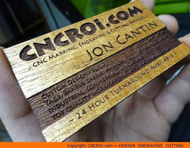 Wood veneer business cards 20 pack custom veneer business x3 wood veneer business cards 20 pack reheart Gallery