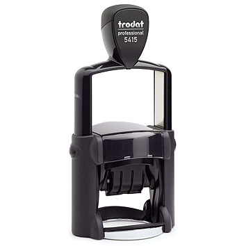 "trodat-5415 Trodat Professional 5415 Custom Self-Inking Stamp (45 mm or 1-3/4"" diameter with date)"