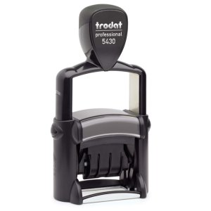 "trodat-5430 Trodat Professional 5430 Custom Self-Inking Stamp (24 x 41 mm or 1 x 1-5/8"" with date)"