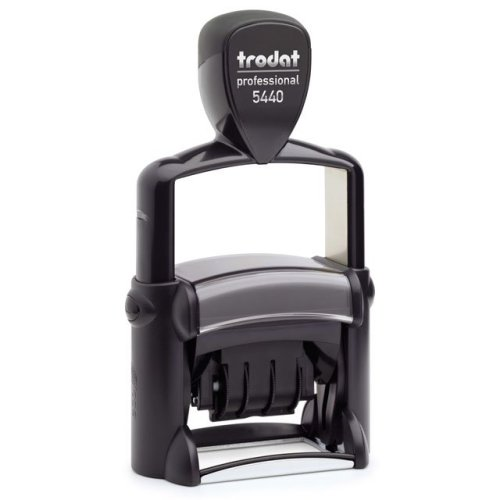 "trodat-5440 Trodat Professional 5440 Custom Self-Inking Stamp (28 x 49 mm or 1-1/8 x 2"" with date)"