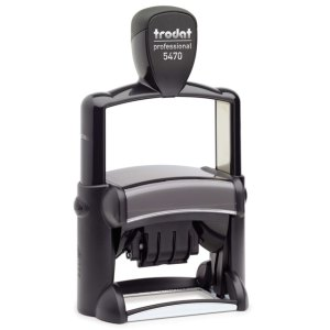 "trodat-5470 Trodat Professional 5470 Custom Self-Inking Stamp (40 x 60 mm or 1-9/16 x 2-3/8"" with date)"
