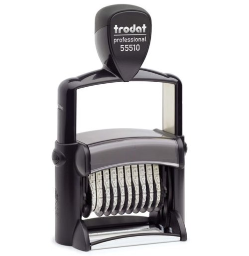 """trodat-55510 Trodat Professional 55510/PL Custom Self-Inking Stamp (33 x 56 mm or 1-5/16 x 2-1/4"""" with numberer)"""
