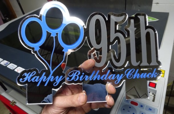 custom-cake-topper-xx8 Custom 95th Birthday Cake Topper: CNC Laser Engraving & Cutting