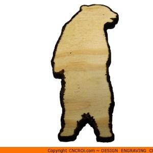 0001-bear-standing Bear Standing Shape (0001)