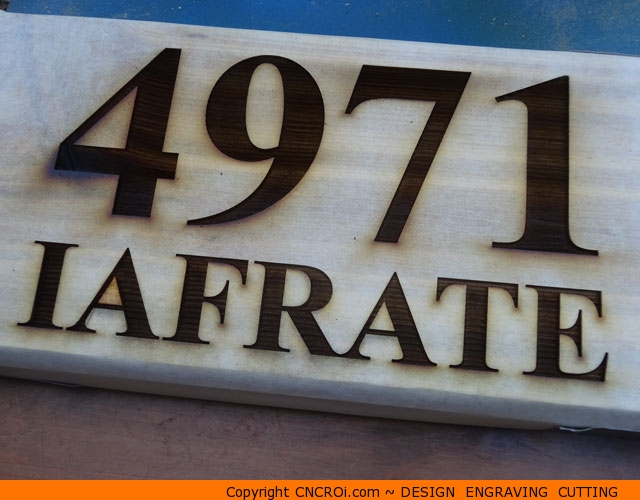 custom-home-sign-1 REAL Cedar House Number Sign: Custom Design Engraving Cutting