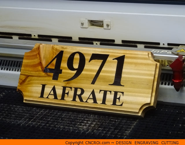 REAL Cedar House Number Sign: Custom Design Engraving Cutting