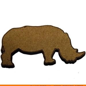 0013-rhino Rhinoceros Shape (0013)