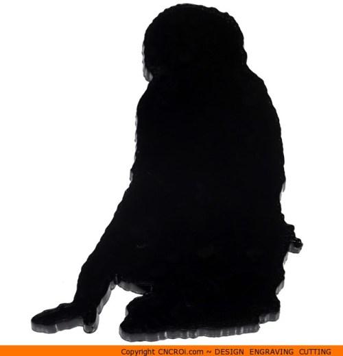 0024-monkey-sitting Monkey Sitting Shape (0024)
