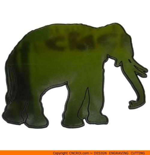0046 Elephant with Tusks Shape (0046)
