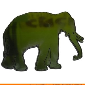 0046 Elephant with Tusks Shape (0046)