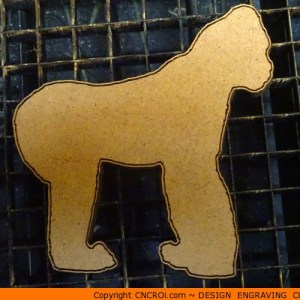 animal-shape-x8 Silverback Gorilla Shape (0018)