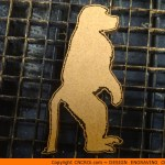 animal-shape-xx2 Baboon Standing Shape (0019)