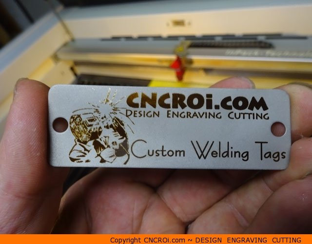custom-welding-tag-1 New Stainless Steel Offering! Custom Matte Finish Welding Tags