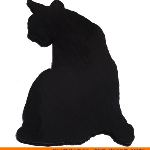 0089-cat-looking-aroundb Cat Looking Around Shape (0089)