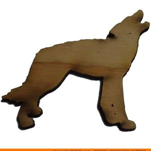 0095-wolf-howling Wolf Howling Shape (0095)