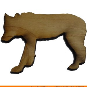 0096-wolf-walking Wolf Walking Shape (0096)