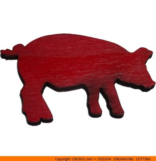 0101-pig-focusedb Pig Focused Shape (0101)