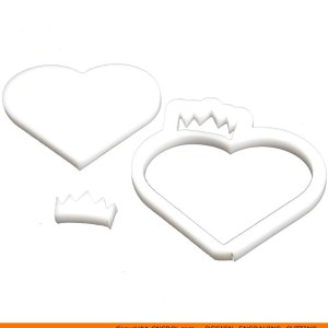 0134-heart-crown-hallow Hollow Heart Crown Shape (0134)