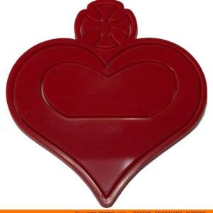 0137-heart-cross Cross Filled Heart Shape (0137)