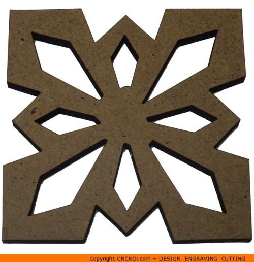 0142-snowflake-thick Thick Snowflake Shape (0142)