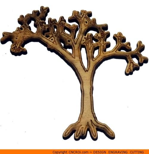 0159-tree-dead-dry Scary Dead Tree Shape (0159)