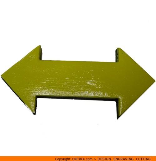 112-arrow-double-sidedc Straight Double Arrow Shape (0112)