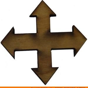 114-arrow-four-arrow Four Straight 90 Degree Arrow Shape (0114)