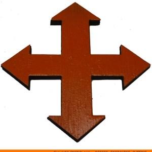 114-arrow-four-arrowc Four Straight 90 Degree Arrow Shape (0114)