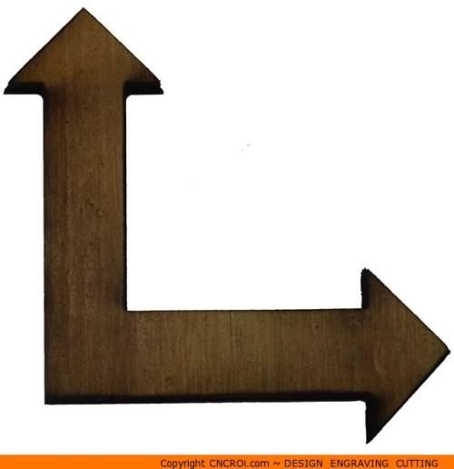 118-arrow-double-corner 90 Degree Double Cornered Arrow Shape (0118)