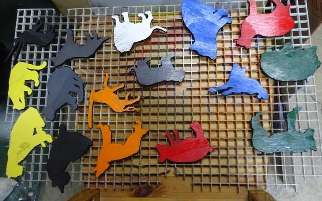 plywood-animals-x7 Custom Animal Shapes Painted Plywood