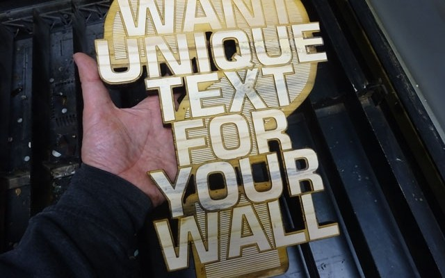 "custom-wall-text-art-xx Custom Wall Text & Art: CNC Laser Engraving & Cutting 3/4"" (18 mm) Whitewood"
